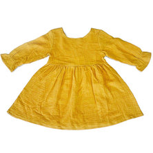 Your Baby Star Long- Sleeve Mustard Dress