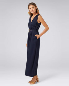 Forever New Ashley Wide Leg Jumpsuit Navy Sails