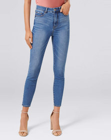 Forever New Bella High Rise Sculpting Jean Florence Blue