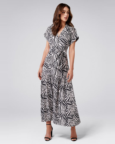 nice cheap picked up search for authentic Forever New Ziggie Maxi Dress Zebra Print