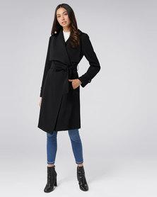 Forever New Dakota Trench Coat Black