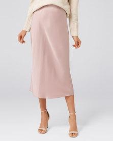Forever New Bianca Satin Slip Skirt Mink