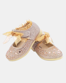 MM Berry Girls Comfy Pumps - Gold