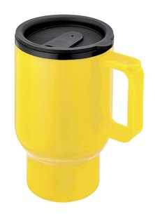 Always Summer Caffe Double walled Travel Cup Yellow