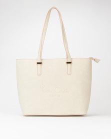 Pierre Cardin Annaliese Tote Bag Light Grey/Pink