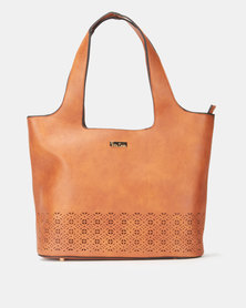 Pierre Cardin Astrid Cut-Out Hobo Bag Tan
