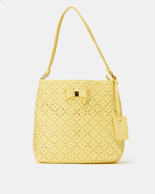 Pierre Cardin Cassandra Cut-Out Bucket Bag Yellow