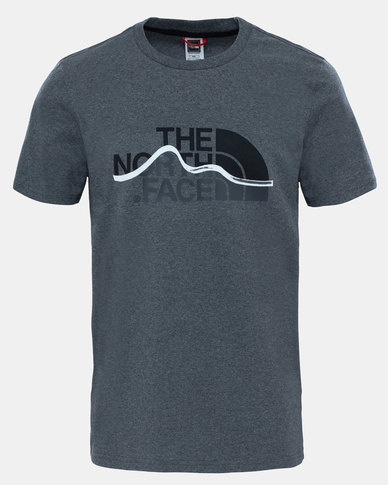 6fcf21d71 The North Face Mountain Line T-Shirt Grey