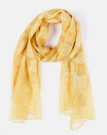 Queenspark Soft Colourblock Scarf Yellow