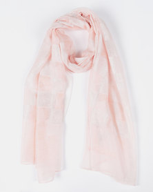Queenspark Soft Colourblock Scarf Pink