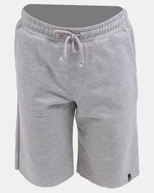Volcom Boys Stone Fleece Shorts Grey Melange