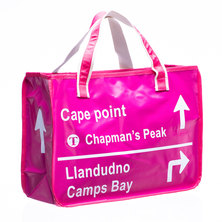 Bamba Zonke Sign Post Cape Point Zip Pocket Bag - Pink