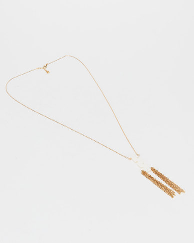 Jewels and Lace Gold 80cm Shell Chain Necklace