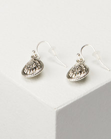 Jewels and Lace Tear Drop Earrings Silver-tone