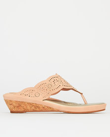 Bata Comfit Slip On Wedge Pink