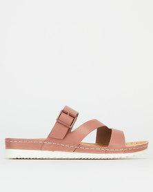 Bata Comfit Slip Sandals Mauve Pink