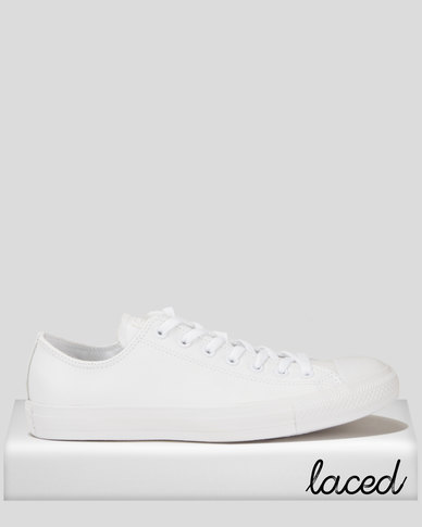 Converse C/T All Star Ox Leather Sneakers Mono White