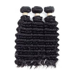Blkt 3x Bundles 10 inches 12A Brazilian Deep Wave Weave Package