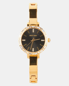 Sissy Boy Dial Strap Watch Black/Gold