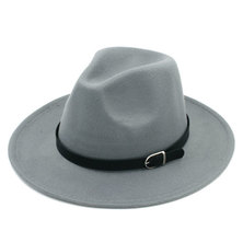 Big Brothers and Sisters Wholesalers Wide Brim Fedora Panama Wool Hat with belt buckle- 57cm Red