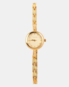 Hallmark Petite Diamante Bracelet Watch Gold-tone