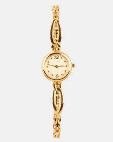 Hallmark Watch and Bracelet Set Gold-tone