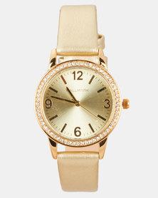 Hallmark Bracelet and Watch Set Rose Gold/Gold-tone