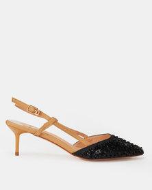 Footwork Jossy Heels Black/Beige