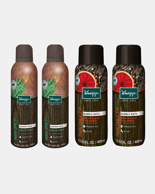 Kneipp Men's Bubble Bath & Shower Foam Gift Set of 4