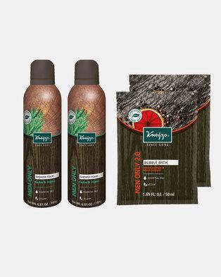 Kneipp Men's Shower Foam & Mini Bubble Bath Gift Set of 4