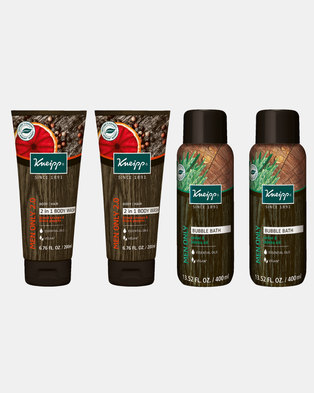 Kneipp Men's Body Wash & Bubble Bath Gift Set of 4