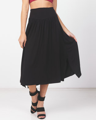 Utopia Knit Skirt With Basque Black