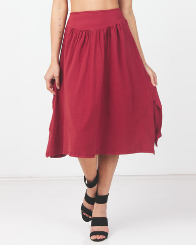 Utopia Knit Skirt With Basque Brick