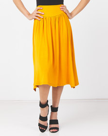 Utopia Knit Skirt With Basque Old Gold