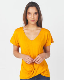 Utopia Knot Top Yellow