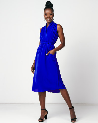 Utopia Midi Knit Dress Cobalt