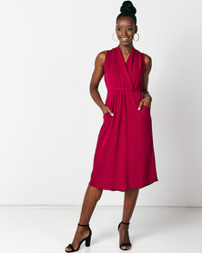 Utopia Maxi Knit Dress Burgundy