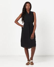 Utopia Midi Knit Dress Black