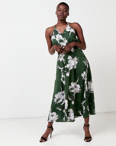 Utopia Floral Maxi Dress Olive