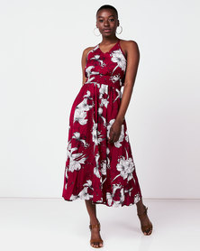 Utopia Floral Maxi Dress Red