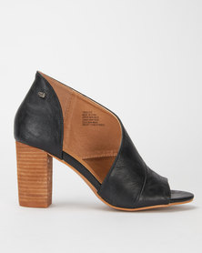 Miss Black Tinos Asymmetric Stack Heel Black