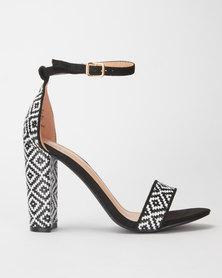 Miss Black EsenadaGeo Block Heel Black