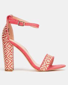 Miss Black EsenadaGeo Block Heels Pink