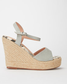 Miss Black Borabora Espadrille Wedge Grey