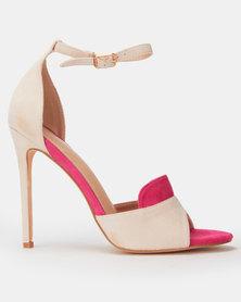 Miss Black Conneta Col Block Heel Pink