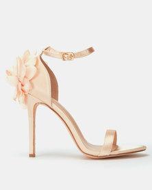 Miss Black Venice Flower Heels Champagne