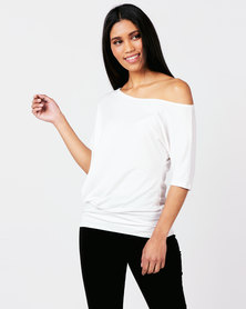 N'Joy Off Shoulder Top Cream