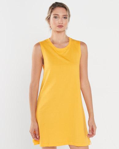 Rip Curl Essentials Tank Dress Yellow