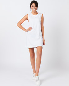 Rip Curl Essentials Tank Dress White