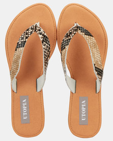 Utopia Leather Thong Sandals Snake